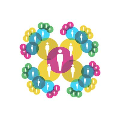Numerose icone di persone interconnesse fra loro