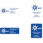 Etichetta base con introduzione in 4 varianti